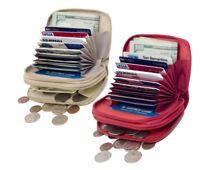 GENUINE LEATHER WOMEN'S ACCORDION ZIP WALLET CREDIT CARD COIN ORGANIZER