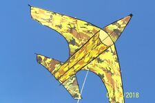 "Camouflagued Jet Fighter Kite: 66 1/2""W X 44 1/2"" L: Gift, Air/Wind Activity,Toy"
