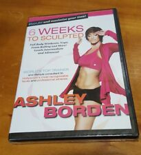 Ashley Borden 6 Weeks to Sculpted (DVD) six workout fitness exercise program NEW