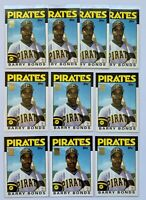 (10) 1986 Topps Traded #11T BARRY BONDS Rookie RC Topps REPRINT Card LOT