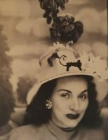 VINTAGE AMERICAN BEAUTY BRUNETTE POSE PRETTY LADY  ARTISTIC PHOTOBOOTH  PHOTO