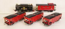 LIONEL PREWAR STD. GAUGE COAL TRAIN W/318E LOCO-3-516 COAL HOPPERS-517 CABOOSE!