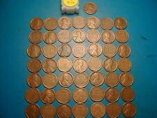 "1918-P LINCOLN WHEAT CENT PENNY ROLL, 50 coins ""FINE"" GRADE"