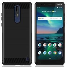 Dustproof Back Bumper Protection Case Cover for Nokia 3.1 Plus TA-1124 Cellphone