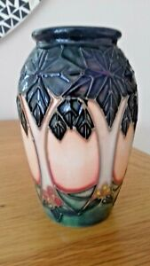 Delightful Moorcroft Miniature *CLUNY* Vase by Sally Tuffin - 1993 - SUPERB.
