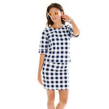 Conjunto 2 piezas camiseta y falda cuadros mujer - 139019