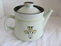 Denby /Langley China Kimberly-Brown/Tan/Yellow Flower - Teapot with Lid