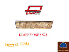 Listello Travertino antico fascia Greca decoro rilievo decorazione 5x25
