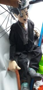 Charlie Chaplin PUPPET  26 INCHES TALL carries wear and cracks