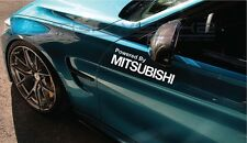 """Powered By Mitsubishi Decal Sticker Racing Evolution Lancer FTO Turbo 12"""" Pair"""
