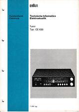 Service Manual-Anleitung für Braun CE 1020