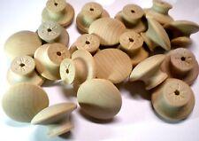 25 Wood Shaker Knob Size 1-1/2 Inch Diameter Smooth Hardwood Birch Package of 25