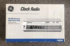 Vintage Ge Electronic Digital Alarm Clock Radio 7-4634 New In Sealed Box
