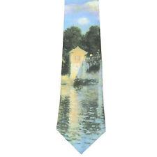 Claude Monet's Impressionist Silk Neck Tie Art Laurent Monteil Paris MONET