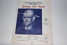 Jalopy Auto Racing Program, Huntington Beach Stadium California, 1950