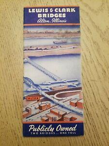 NOS VTG 1947 Lewis & Clark Toll Bridges Alton Illinois Highway Road Map St Louis