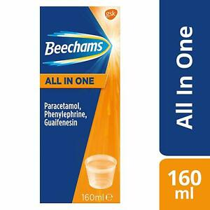 Beechams Cold & Flu Liquid Pain, Cough and Congestion Relief Medicine All-in-One