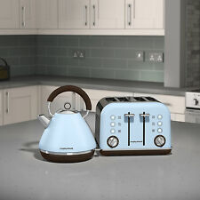 Morphy Richards 102100 - 242100 Accents Kettle & 4 Slice Toaster Set Azure Blue