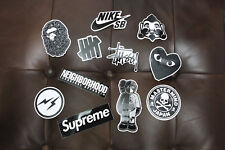Vintage Kaws Bape Supreme 3M Stickers Black Trunk Notebook Skateboard