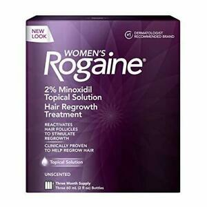 Women's Rogaine 2% Minoxidil Topical Solution for Hair Thinning and Loss, Topica
