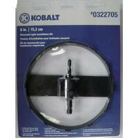 Kobalt 6-in Tungsten Carbide-Grit Cutting Edge Hole Saw Kit for Recessed Light