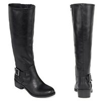 $90 Arizona Black Dylan Wide-Shaft Womens Riding Boots Size 7 NEW