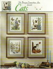Cats Mary Ellen Yanich Design Connection #94-006 Cross Stitch Patterns NEW