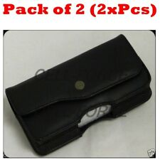 "2X Horizontal Belt Clip Pouch Case Cover Holster For 5.25""x2.5"" Or Smaller Phone"