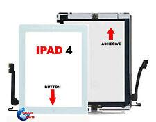 IPAD 4 Touch Screen Bianco Apple A1458 A1459 A1460 Wifi 3G +  Tasto + adesivo