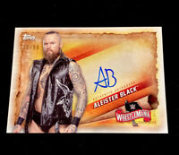 2020 TOPPS WWE ROAD TO WRESTLEMANIA ALEISTER BLACK ON-CARD AUTO #'d 06/99