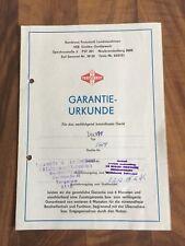 DDR Fortschritt Garantieurkunde Sirokko Gerätewerk Landmaschinen Torgelow 1987