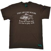 Fishing Tee - Fish Are Like Boobs - Rude Adult fish rod funny BirthdayT-SHIRT