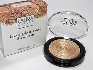 """Laura Geller Baked Gelato Swirl Illuminator """"Gilded Honey"""" Full Size New In Box"""