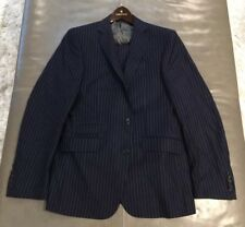 NWOT Rowma Custom 150s Wool Cashmere Navy Striped Suit 50R 40R 34x32 $1595
