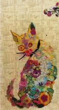 Purrfect - collage style applique cat quilt PATTERN - Laura Heine