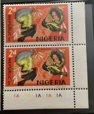Republic of Nigeria 2d 1966 Wildlife stamp Block