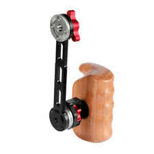 CAMVATE Wooden Left Handle Grip ARRI Rosette Extension Arm for DSLR Shoulder Rig