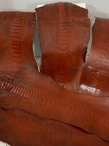 Ostrich Legs Almond Vintage Color Grade A  (%100 Genuine Ostrich Leather)