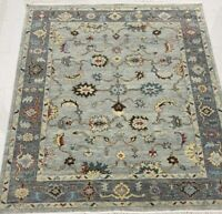 Oushak 8x10 HandKnotted Wool Rug Gray, Red, Yellow, Blue, Ivory, Brown1/2 pile