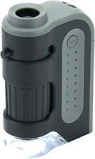 Carson MicroBrite Plus LED Light Mini Magnifier Portable Pocket Microscope Loupe