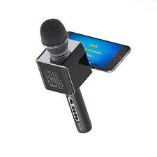 "Pop Solo Karaoke Microphone Bluetooth Wireless Smartphone Black Tzumi (4955)â""¢"