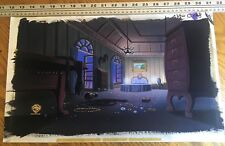 Batman the Animated Series pan production background Catwoman animation cel obg