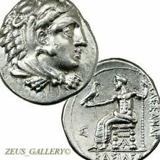ALEXANDER the Great Rare Drachm / Zeus Herakles Ancient Greek Silver coin drachm