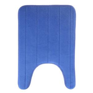 U-Shaped Memory Foam Bath Mats Toilet Mat Bathroom Coral Fleece Carpet Home D HB