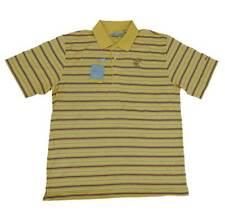 Greg Norman Playdry Performance Series Yellow Stripe Polo Golf Shirt New! $89