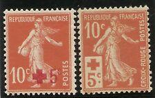 FRANCIA  Yvert 146/147** Mnh  Serie completa  Cruz Roja   1914   NL962