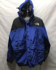 VTG Mens NORTH FACE Mountain Guide Blue GORETEX Hooded Vented Jacket/Free Ship