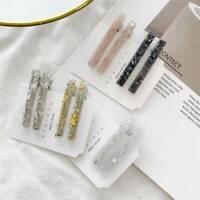 2PCS Geometric Acrylic Acetate Hair Clip Hairpins Barrettes Hair Accessories Set