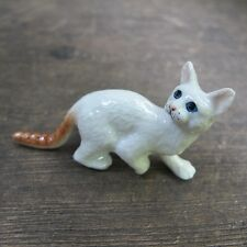 White Bengal Cat Figurine Cats Ceramic Collection Cat Pottery Animals