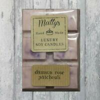 Matty's Candles® Soy Wax Melts Damson Rose Patchouli Scent Bar Vegan Burner 75g